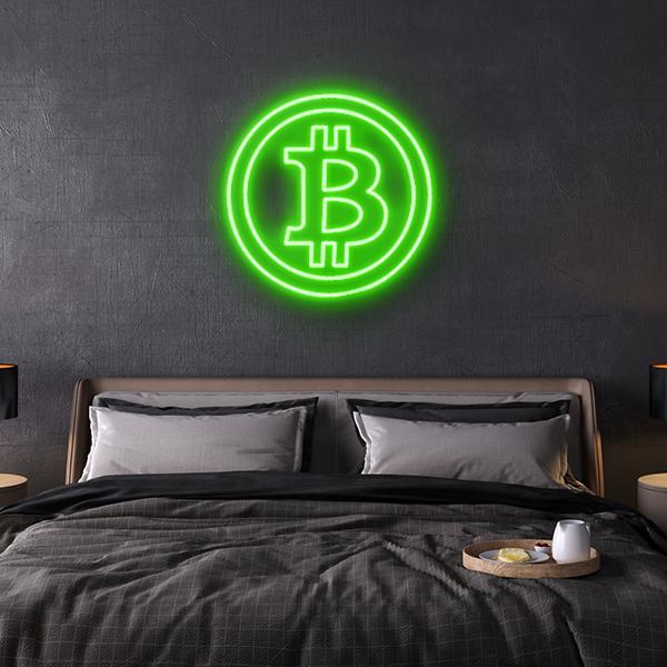 bitcoin led sign