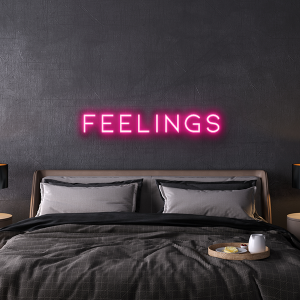 feelings custom neon sign