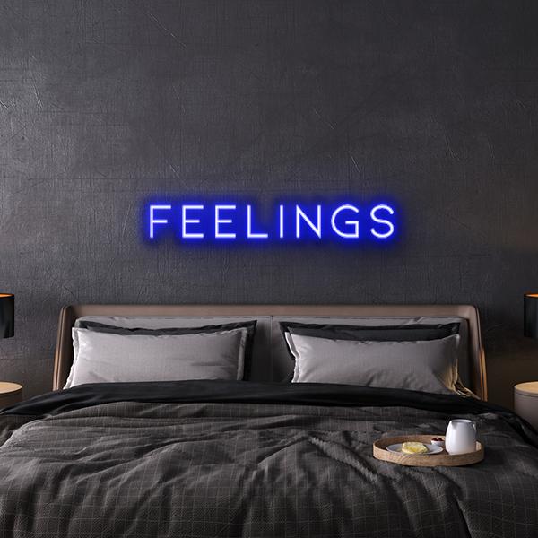feelings custom neon sign
