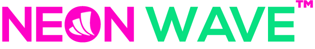 neon wave LED Logo Sign shop