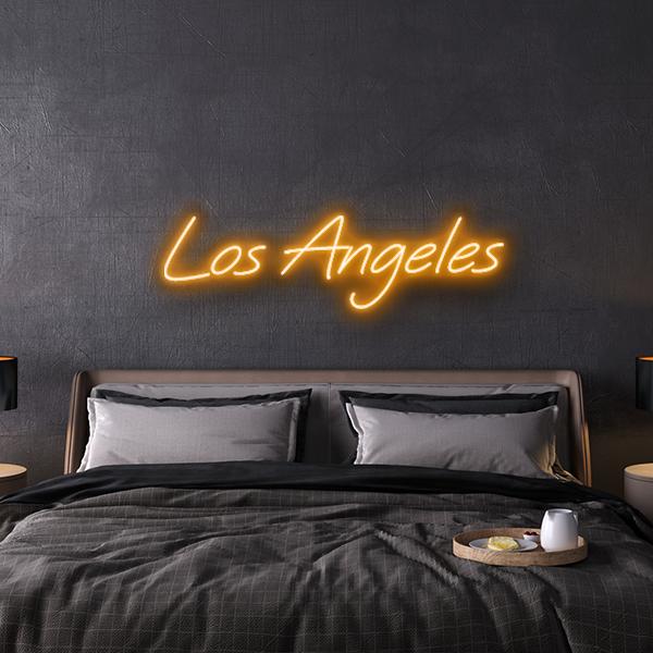 los angeles custom neon sign