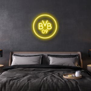 BVB Logo Neon zeichen Schrift