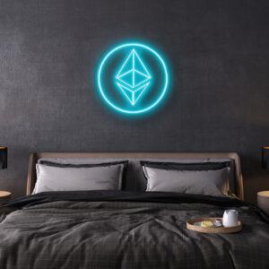 Ethereum logo LED Neon sign