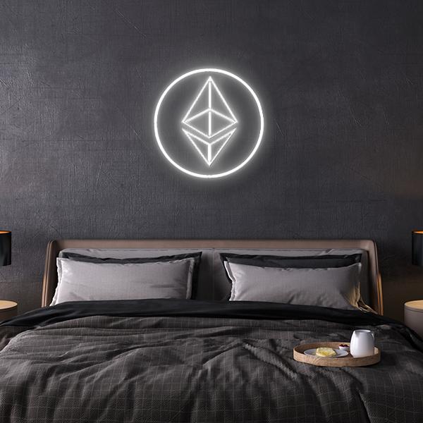 Ethereum led logo