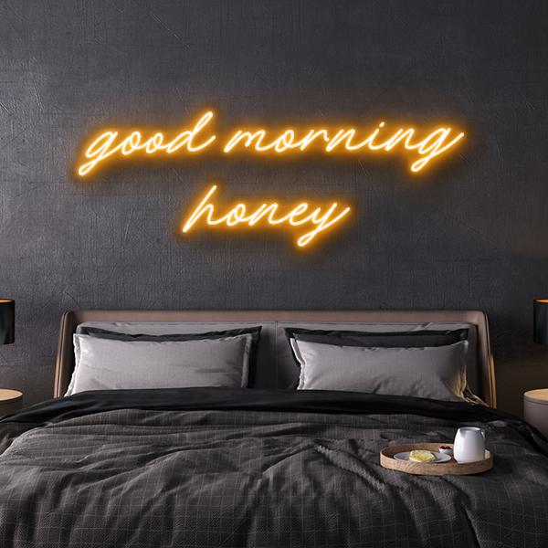 led neon sign good morning honey