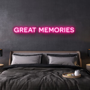 led neon sign great memories