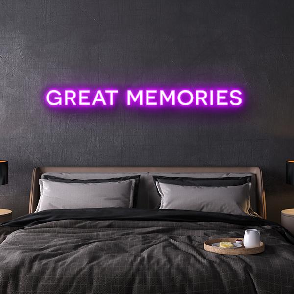 led neon sign great memories