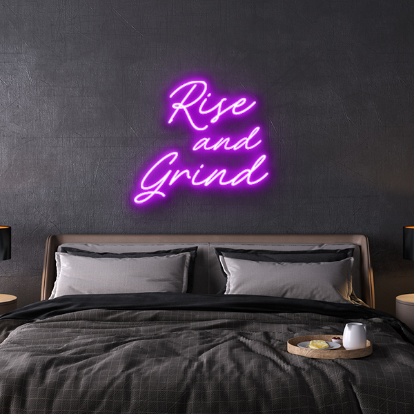 rise and grind LED Neon Sign