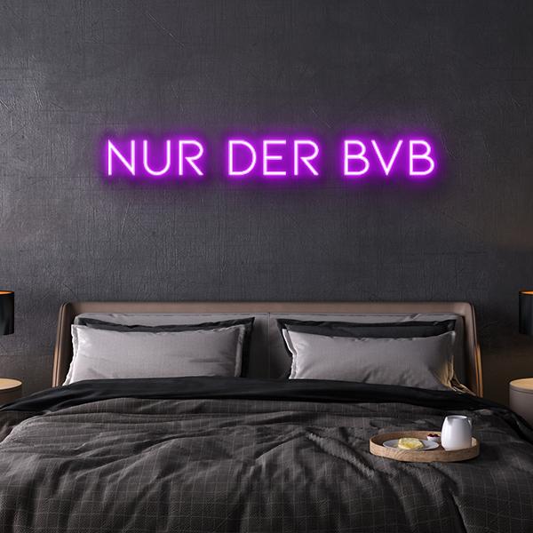 nur der bvb Neon Leuchtschrift