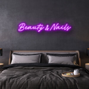 Beauty Nails Neon Sign