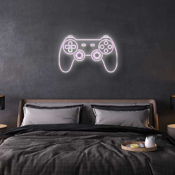 Playstation Game Controller neon sign