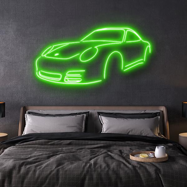 porsche 997 LED neon sign schriftzug