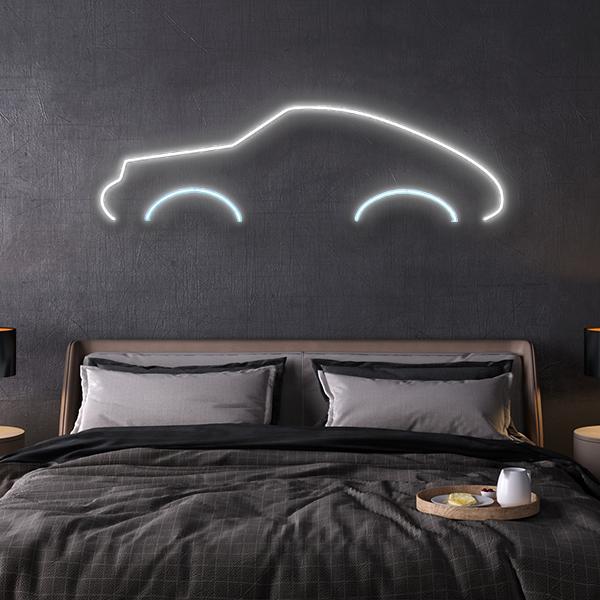 porsche 911 Turbo LED neon sign schriftzug