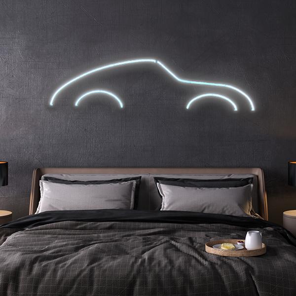 porsche 911 LED neon sign schriftzug
