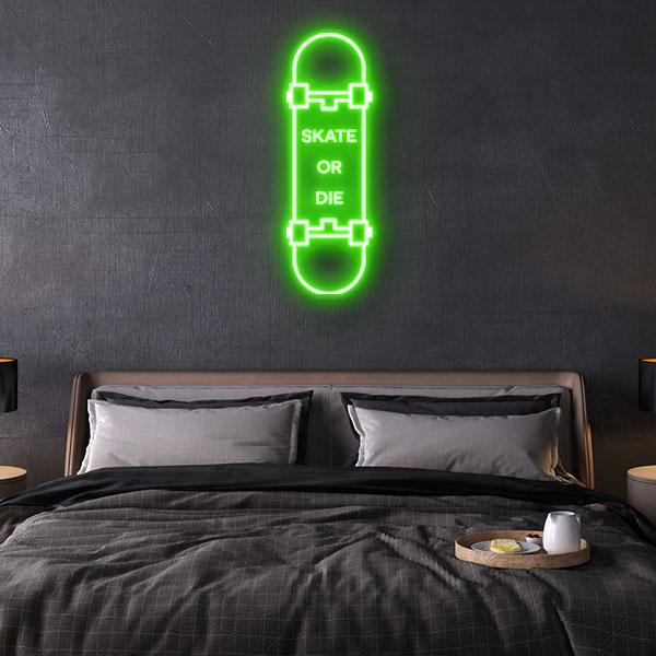 Skate or Die Neon Sign