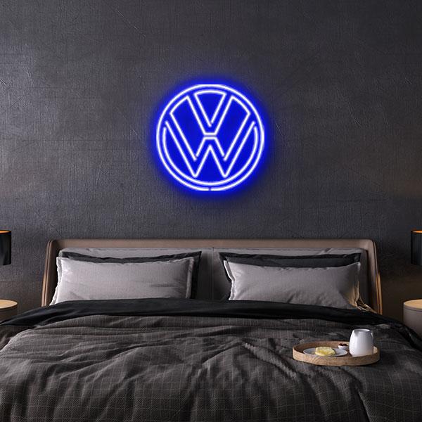 vw logo volkswagen logo neon sign