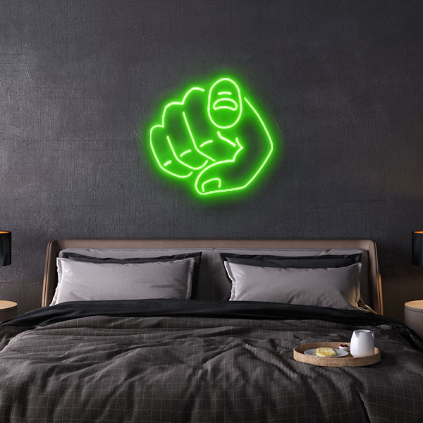 want you neon sign
