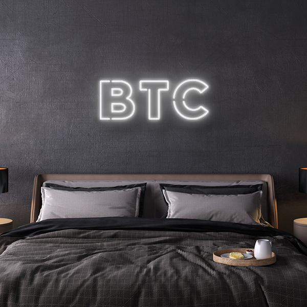BTC Bitcoin LED Neon Sign