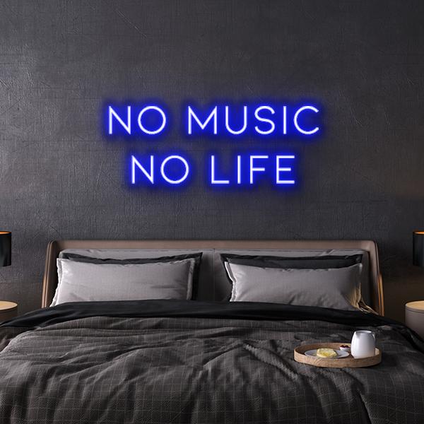 no music no life neon sign